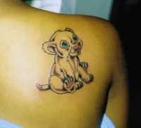 animated cartoon lion tattoo