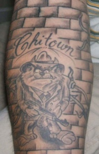 Taz devil gangster of fifties tattoo