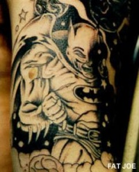 cartoon charachter tattoo