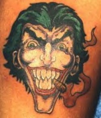 cartoon devil tattoo