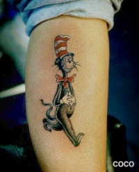 cat in the hat tattoo