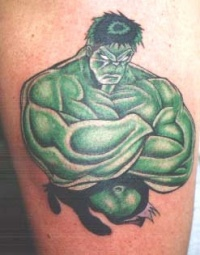 incredible hulk tattoo