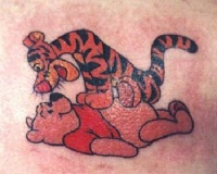 tigger and pooh tattoo